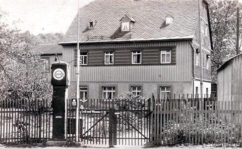 """Tankstelle/Zapfsäule """"Standard"""", Einsiedel, Ende der 1930er Jahre"""