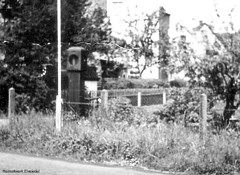 Ehemalige Zapfsäule im Grundstück Hauptstr. 93 in Einsiedel 1986