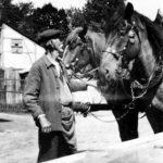 Bruno Uhlmann mit seinen Pferden