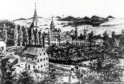 Holzstich Uhlmann-Haus um 1840
