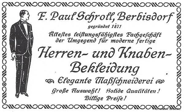 Adressbuch Berbisdorf 1926/27