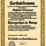 IHK Urkunde 25 Jahre Betriebszugehörigkeit
