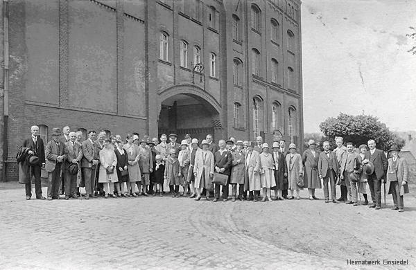 Belegschaftsfoto Radeberger Exportbierbrauerei NL Einsiedel 1920er Jahre