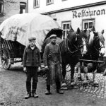 Planwagen der Brauerei Schwalbe in Einsiedel