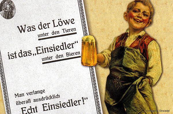 Werbung Einsiedler Biere auf dem fernsprechverzeichnis 1929