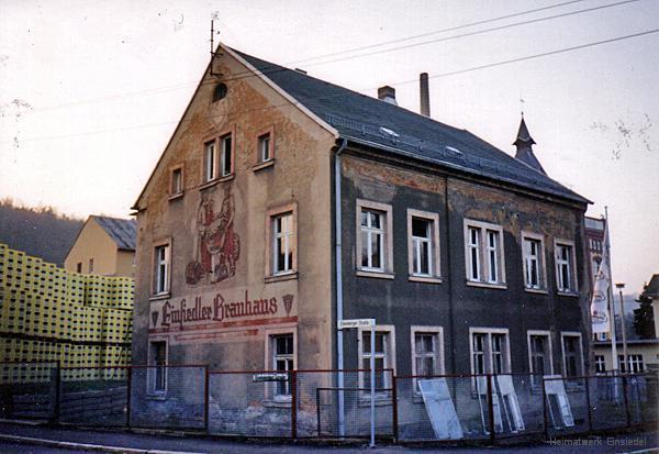 Abriss der Werkswohnungen an der Brauerei Einsiedel