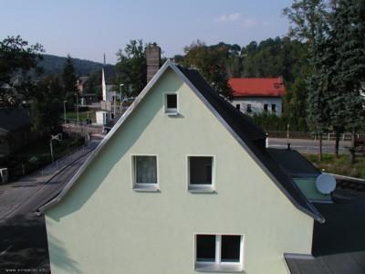 Dachfensterblick aus Einsiedler Hauptstr. 89 auf 87 im September 2005
