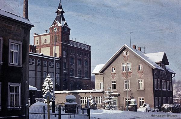 Die Einsiedler Brauerei im Winter 1971