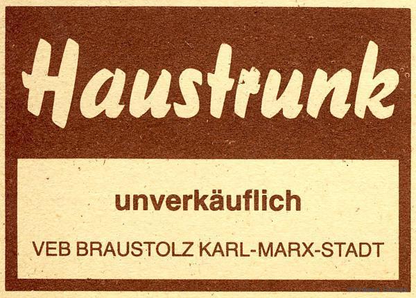 "Edikett ""Haustrunk"" (Bierdeputat) des Einsiedler Brauhauses"