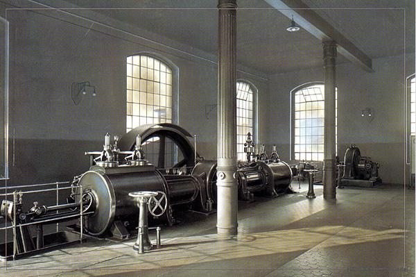 Dampfmaschine im volkseigenen Einsiedler Brauhaus, Baujahr 1924