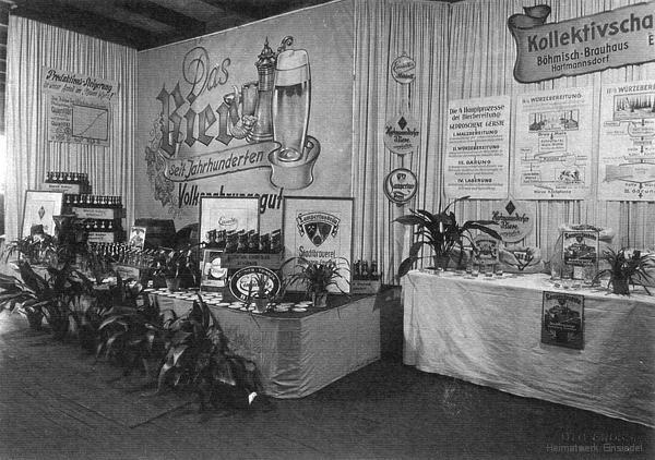 Das Einsiedler Brauhaus, noch nicht volkseigen, auf einer Kleinmesse 1954.