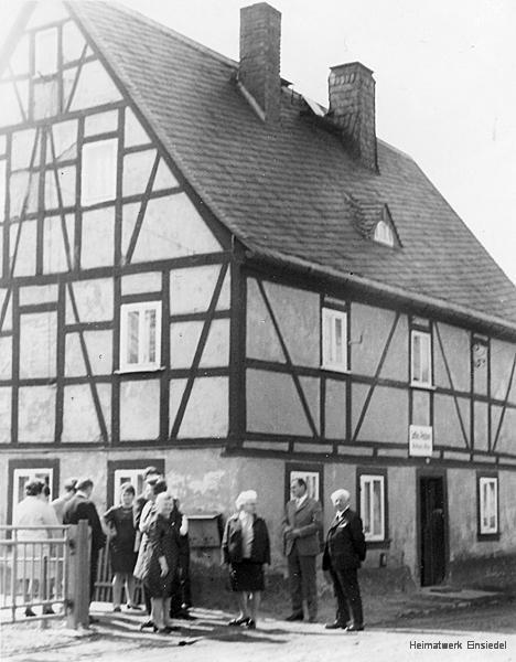 Das Fachwerkhaus Rosenstraße 12 in Einsiedel 1971