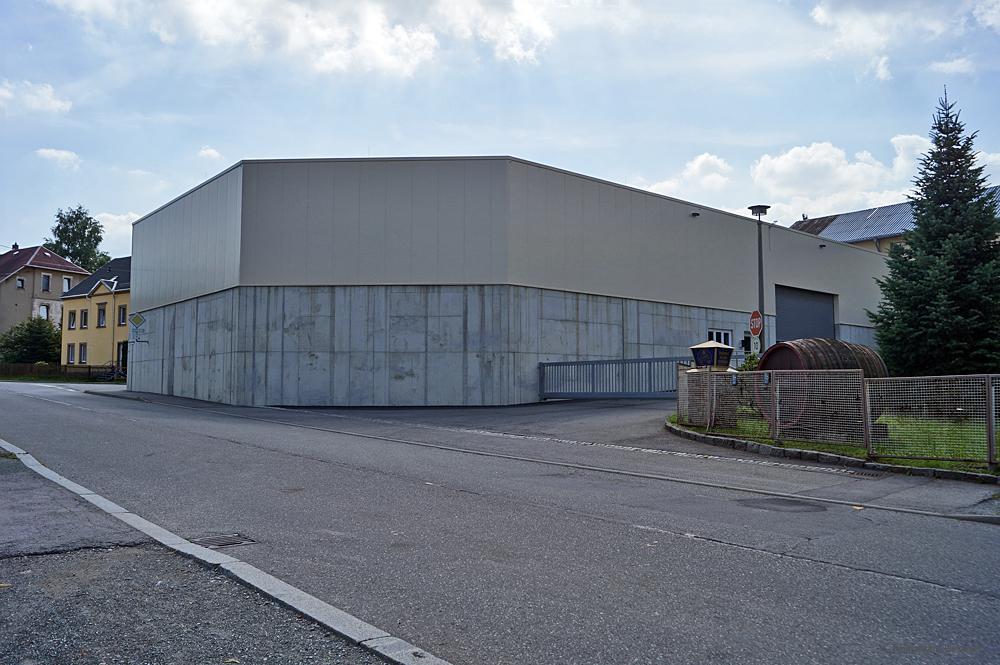 Lagerhalle des Einsiedler Brauhauses an der Ecke Hauptstraße/Eibenberger Str. 2013