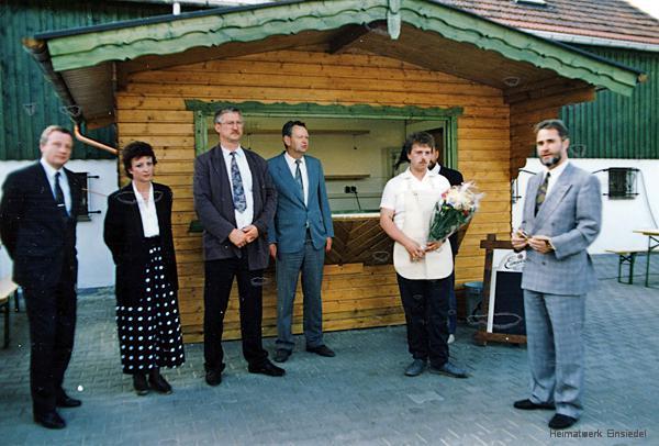 Torsten Eisen, der Pächter des Biergartens in Einsiedel 1992