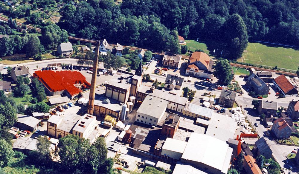 Luftbildaufnahme Einsiedler Brauhaus 1992
