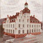 Rathaus Einsiedel - eine Lithogafie von 1901