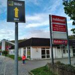 Werbung EDEKA Weber, Einsiedel, vor nahkauf Einsiedel im Mai 2020