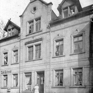 Café Schmidt in Einsiedel, heute Konditorei Fiedler
