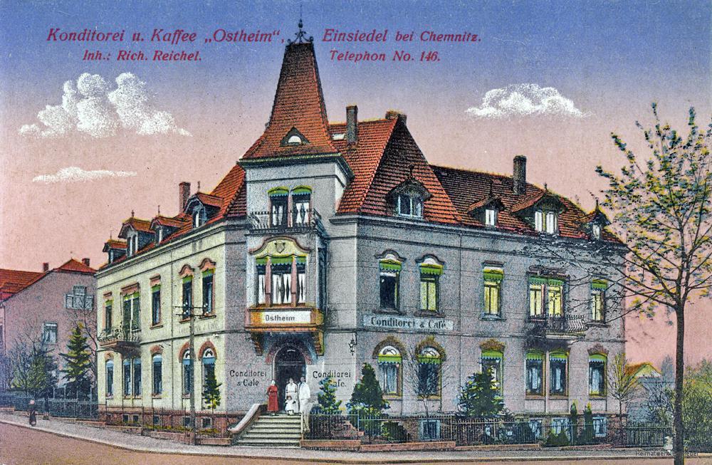 Café Ostheim in Einsiedel um 1910