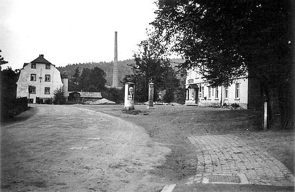 Straßenführung in Einsiedel, Unterdorf, bis 1938, vor dem Bau der Entlastungsstraße