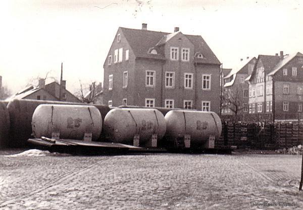 Druck- und Lagertanks im Einsiedler Brauhaus 1972