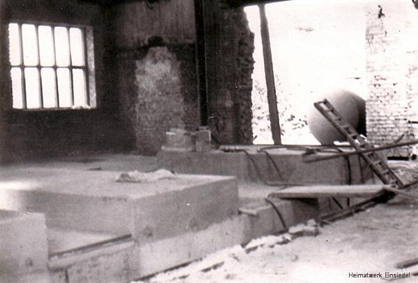 Vorbereitungen im Heinhaus der Einsiedler Brauerei im Sommer 1973