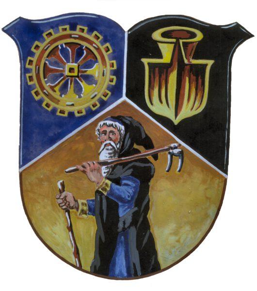 Wappen von Einsiedel (Zeichnung: Knothe)