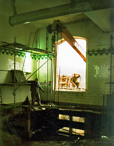 Umbau des Sudhauses im Einsiedler Brauhaus - Privatbrauerei - im Frühjahr 1991
