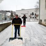Roter Schnee - Bilder vom Tage