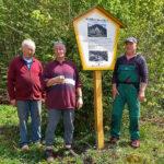 Schild Waldesrauschen - Bilder vom Tage