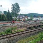 Buswendeschleife und P+R am Bahnhof Einsiedel - Bilder vom Tage