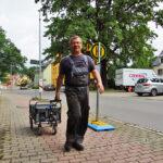 Jörg Schmidt holt Ersatzteile - Bilder vom Tage