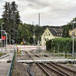 Fußgängerbrücke Bü Einsiedel wegen Sperrung - Bilder vom Tage