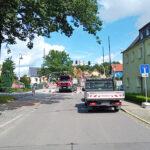 Gesperrter Bü über die Einsiedler Hauptstraße - BIlder vom Tage