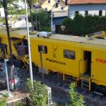 Gleisstopfmaschine in Einsiedel - Bilder vom Tage