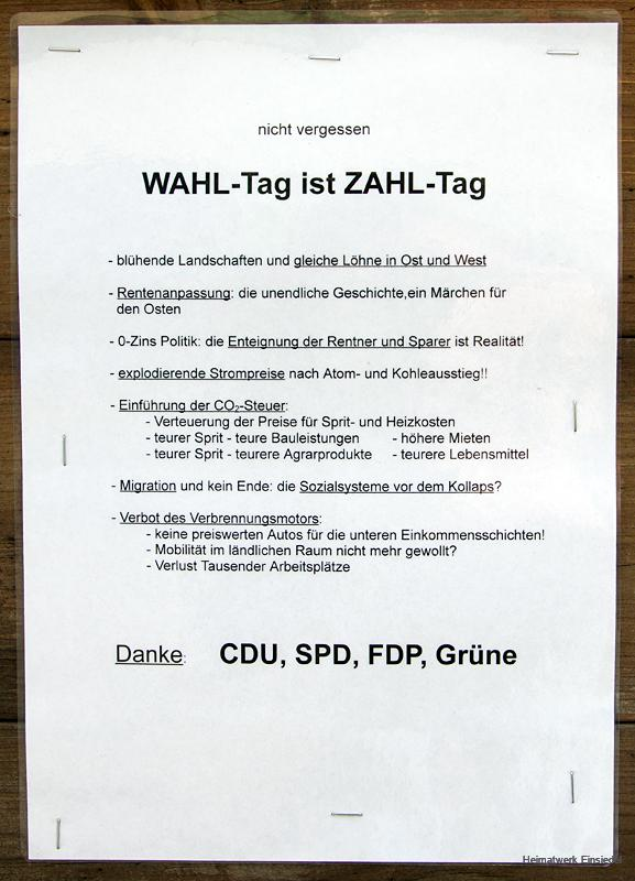 Bundestagswahl 2021 in Einsiedel